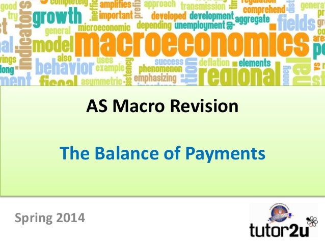 AS Macro Revision Macroeconomics, Macro Objectives and the Circular Flow of Income Spring 2014