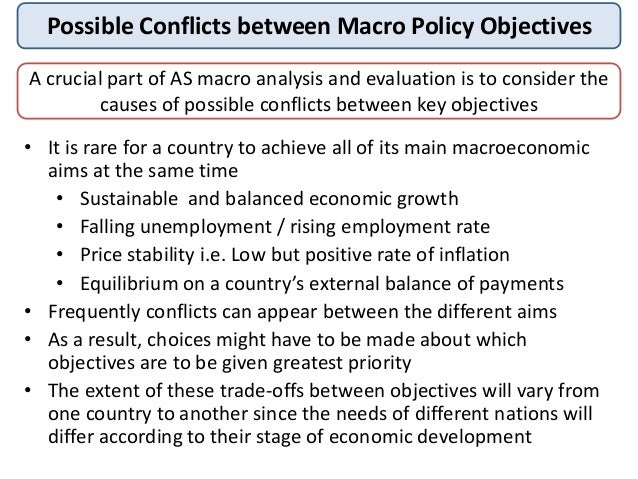"""objectives of macroeconomics The objectives of macroeconomic policy should include economic  macroeconomics, growth,  """"macroeconomic policy and sustainability."""