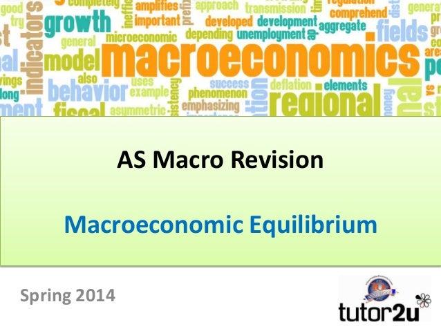 AS Macro Revision Macroeconomic Equilibrium Spring 2014