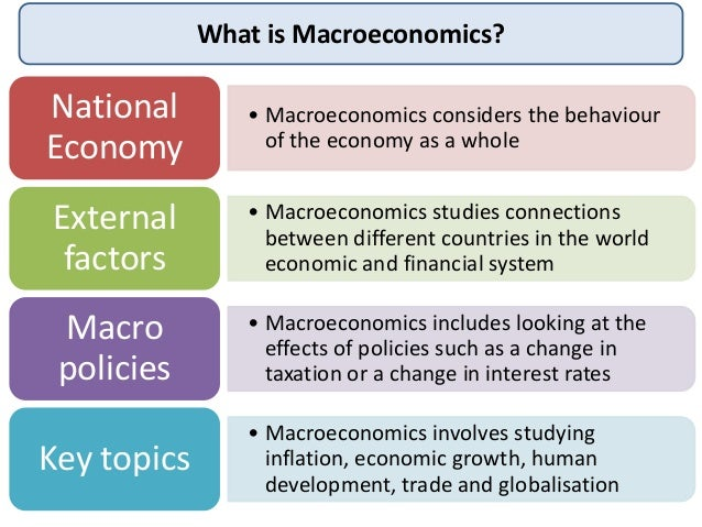 Macroeconomic objectives and conflicts