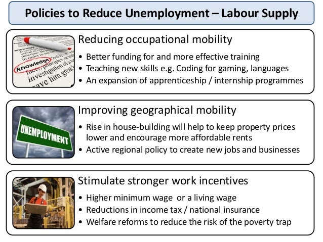 reducing unemployment Reducing youth unemployment in south africa   1 1  high and rising youth unemployment is a serious concern in south africa where only one in three young people of .