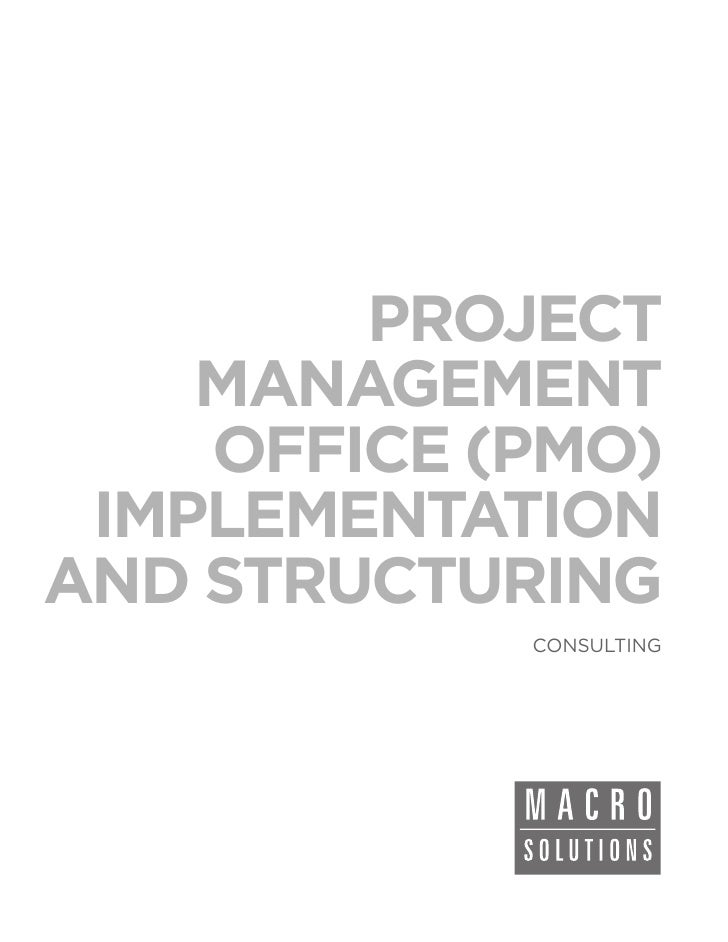 PROJECT    MANAGEMENT    OFFICE (PMO) IMPLEMENTATIONAND STRUCTURING            CONSULTING
