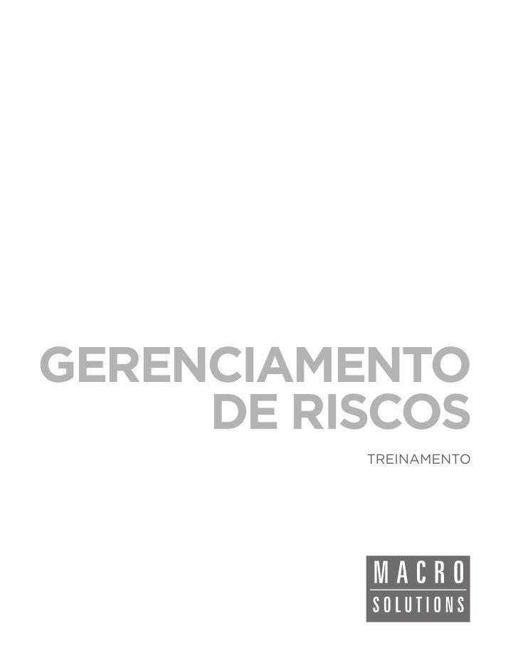 GERENCIAMENTO     DE RISCOS          TREINAMENTO