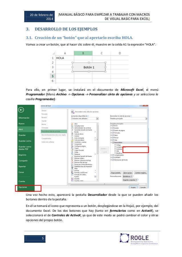 how to use visual basic in excel
