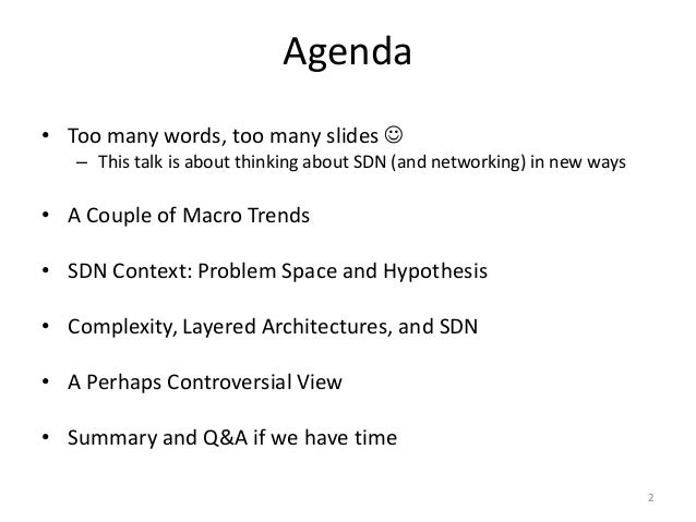 Macro Trends, Architecture, and the Hidden Nature of Complexity (and what does this have to do with SDN?) Slide 2