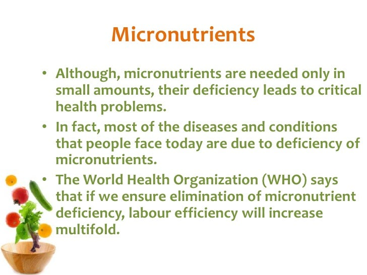 Macro Vs Micronutrients