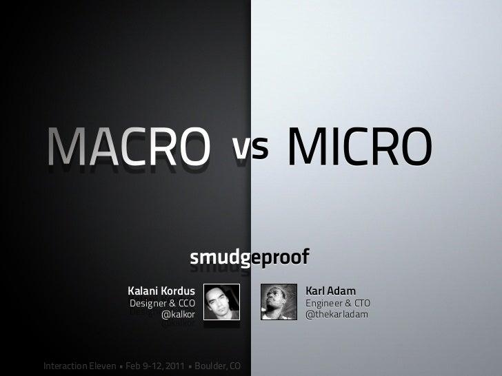Macro and micro of pepsi