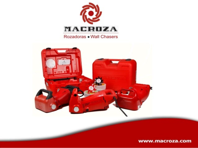 Rozadoras de fresa de uso profesional  Las rozadoras MACROZA hacen excepcionalmente fácil, limpio y rápido el trabajo de r...
