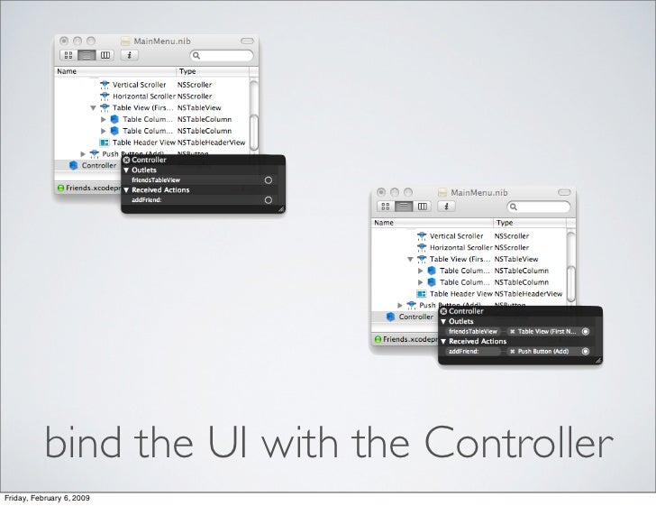 bind the UI with the Controller Friday, February 6, 2009