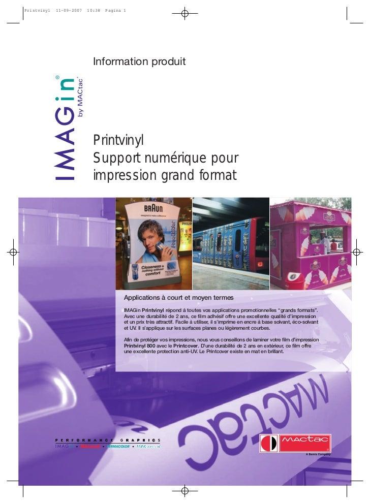 Printvinyl   11-09-2007   10:38   Pagina 1                            Information produit                            Print...