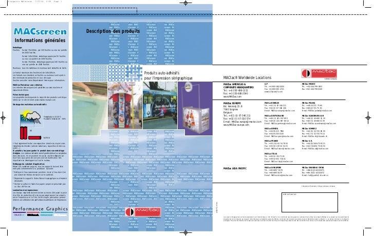 Plaquette MACscreen           7/07/04        8:58      Page 1                                                             ...