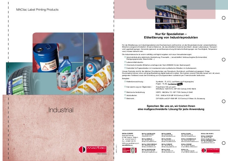 MACtac Label Printing Products                                                                                            ...