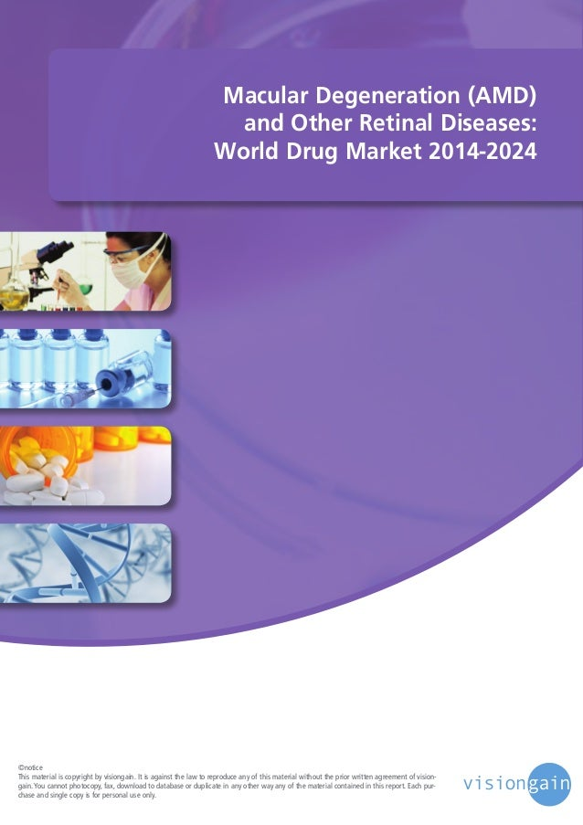 Macular Degeneration (AMD) and Other Retinal Diseases: World Drug Market 2014-2024  ©notice This material is copyright by ...
