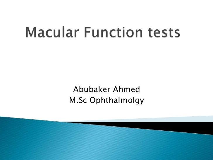 Abubaker AhmedM.Sc Ophthalmolgy