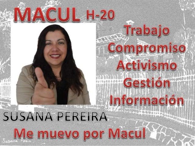 Susana Pereira Concejal Macul