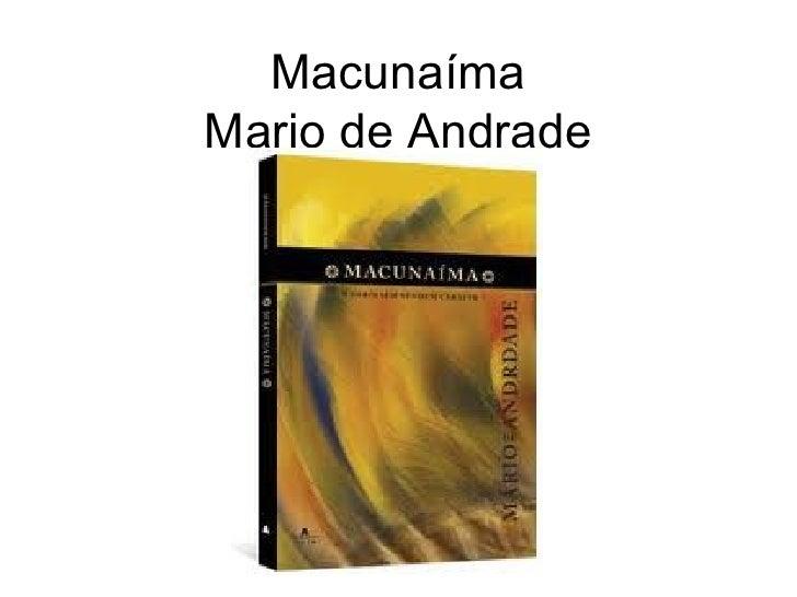 Macunaíma Mario de Andrade