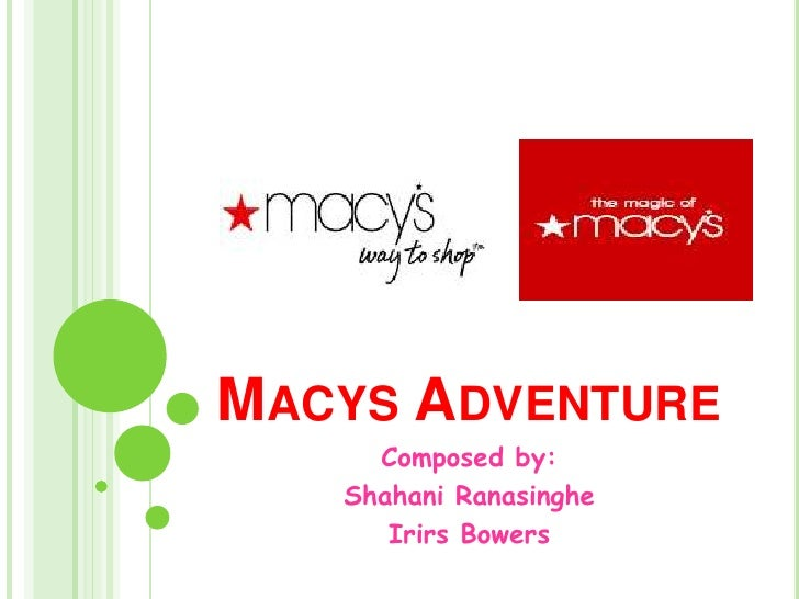 Macys Adventure<br />Composed by:<br />Shahani Ranasinghe<br />Irirs Bowers<br />