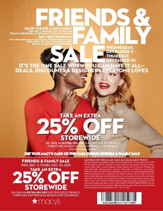 8d3150fd5 Macys friends & family sale