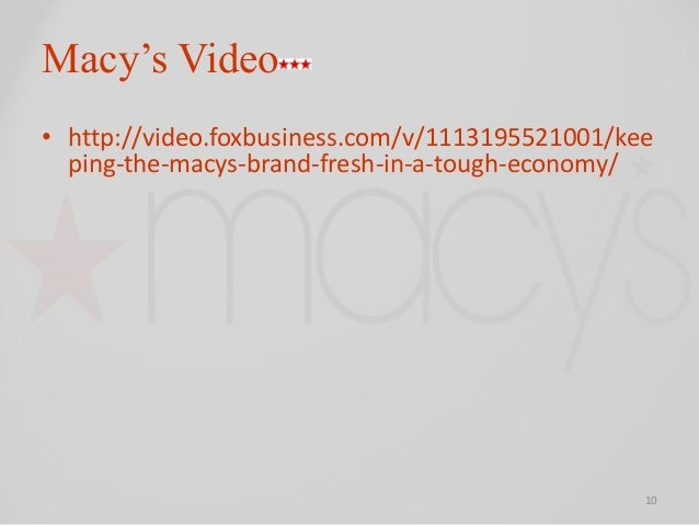 macy brand essay One of the country's biggest retailers joins us brands  macy's honored  now macy s is leading the fashion-forward brands selling americans on.