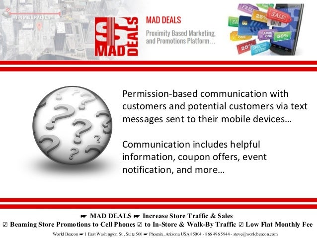 Mad Deals - Beams Retail Store Ads to Walk By & In-Store