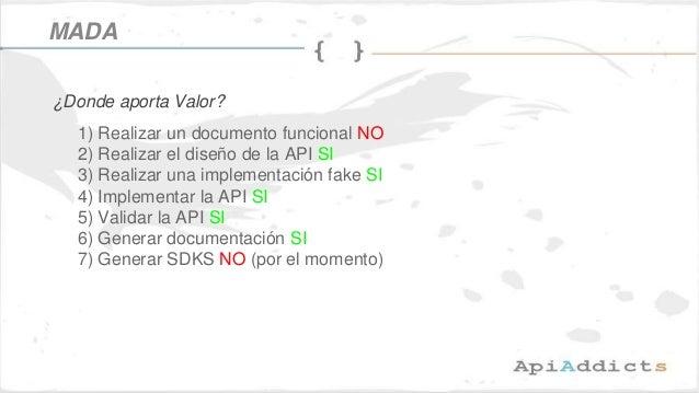 1) Realizar un documento funcional NO 2) Realizar el diseño de la API SI 3) Realizar una implementación fake SI 4) Impleme...