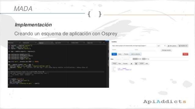 Creando un esquema de aplicación con Osprey Implementación MADA