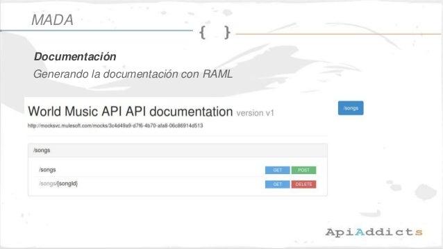 Generando la documentación con RAML Documentación MADA