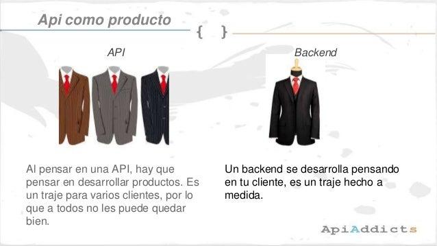 Al pensar en una API, hay que pensar en desarrollar productos. Es un traje para varios clientes, por lo que a todos no les...