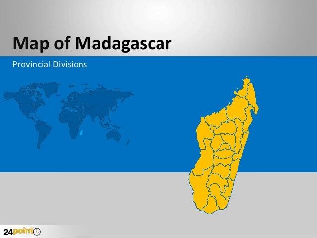 Map of Madagascar Provincial Divisions
