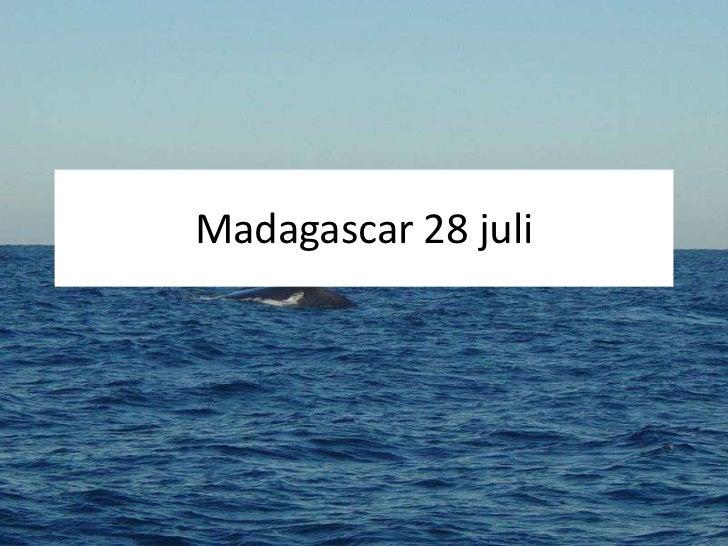 Madagascar 28 juli<br />