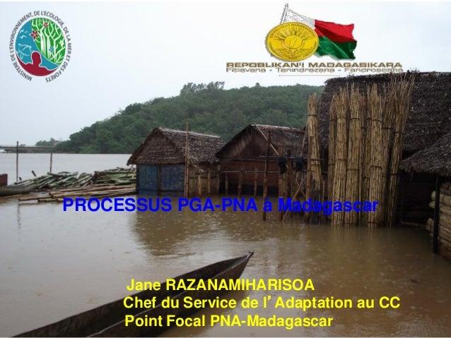 PROCESSUS PGA-PNA à Madagascar Jane RAZANAMIHARISOA Chef du Service de l'Adaptation au CC Point Focal PNA-Madagascar