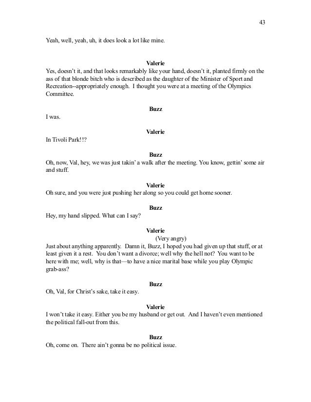 how to start a script for a play