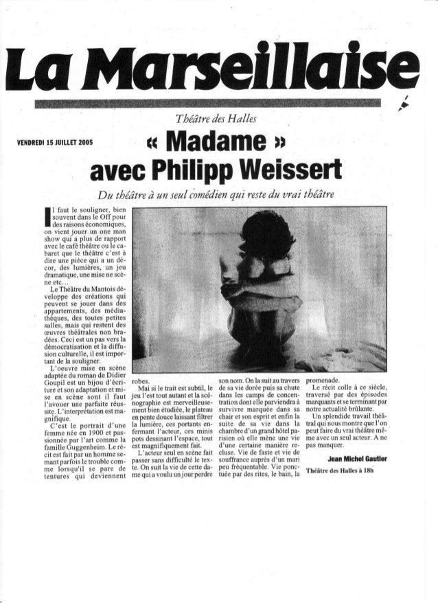 Théâtre Halhs                                                              desvEilo[EDt ru .t ET        t5       2005     ...