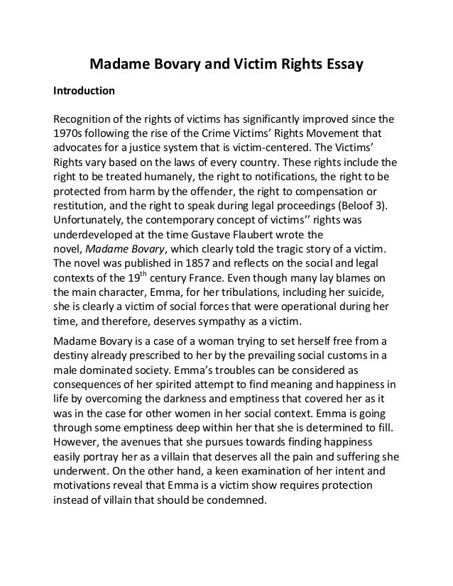 bovary essay madame question In his essay based on the book madame bovary, he talks about its main  this is  true even if the person in question isn't right or good for them.