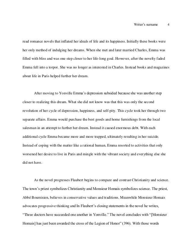 madame bovary essay  4
