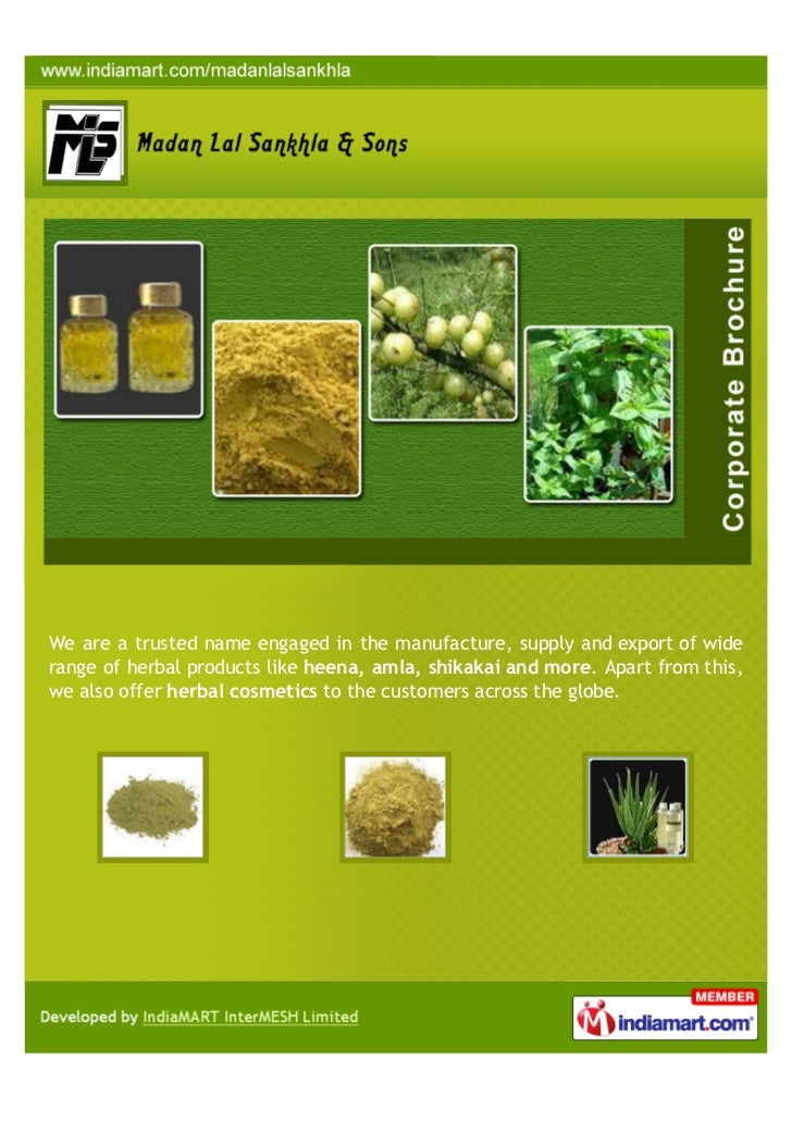 We are a trusted name engaged in the manufacture, supply and export of widerange of herbal products like heena, amla, shik...