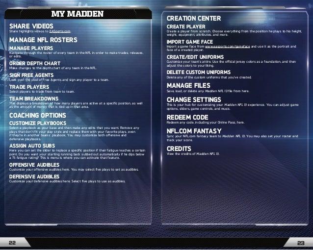 ea sports madden nfl 13 game manual rh slideshare net madden 15 manual ps3 madden 15 manual xbox one