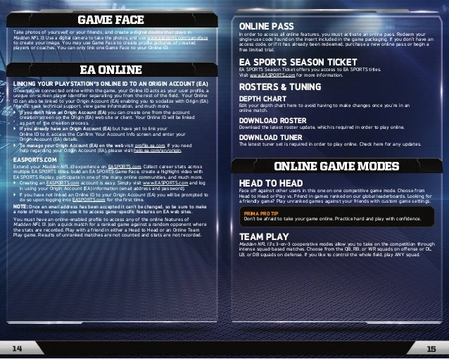 ea sports madden nfl 13 game manual rh slideshare net ea sports ufc game manual ea sports ufc 3 game manual