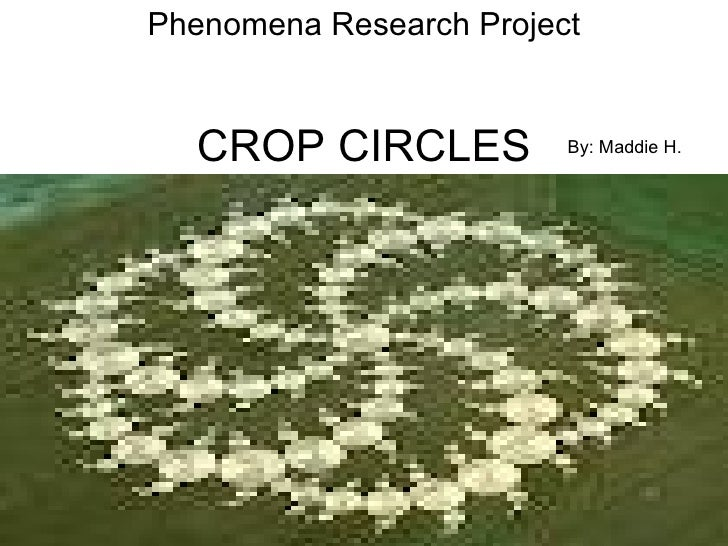 Phenomena Research Project  CROP CIRCLES           By: Maddie H.