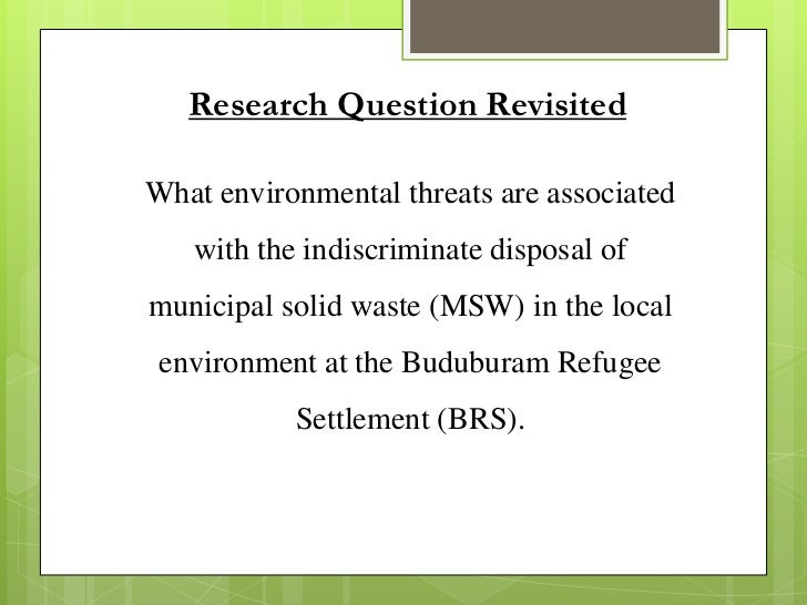 Thesis about water borne disease