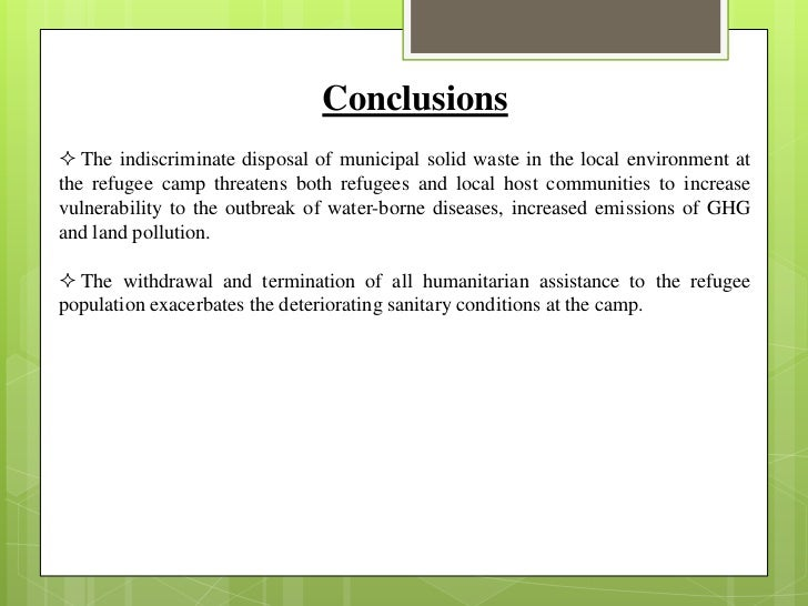 Masteral thesis on environmental issues