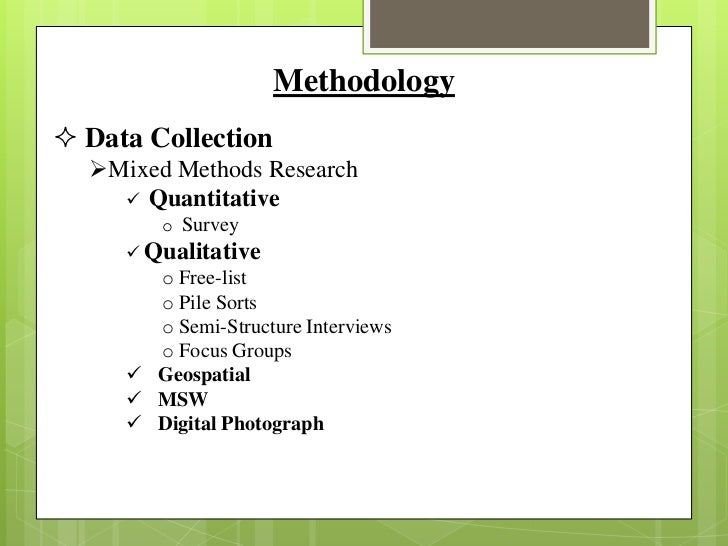 Methodology tutorial - structure of a master thesis