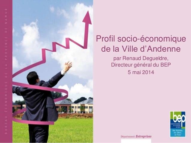 Profil socio-économique de la Ville d'Andenne par Renaud Degueldre, Directeur général du BEP 5 mai 2014