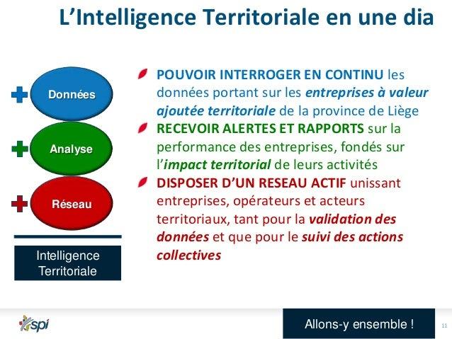 L'Intelligence Territoriale en une dia Données  Analyse  Réseau  Intelligence Territoriale  POUVOIR INTERROGER EN CONTINU ...
