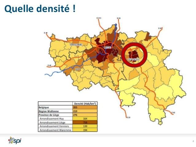 Quelle densité !  1.081 hab/km² 141 hab/km²  Que lire ici ?  1.691 hab/km²  4