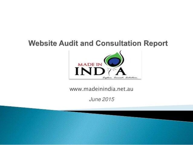 www.madeinindia.net.au June 2015