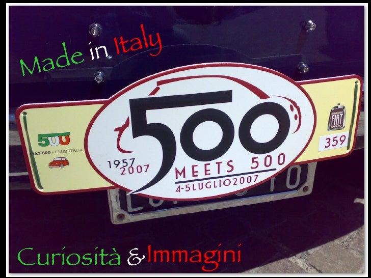 Made  in   Italy Curiosità & Immagini