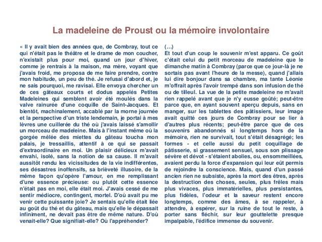Madeleine de Proust Slide 3