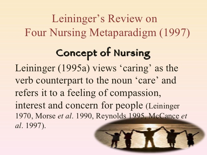 Leininger (1995a) views 'caring' as the verb counterpart to the noun 'care' and refers it to a feeling of compassion, inte...