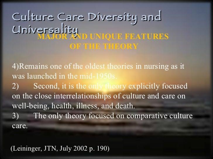 madeliene leininger Leininger se baso en la disciplina de la antropolog a y de la enfermer a defini la enfermer a transcultural como un rea principal de la enfermer a que se centra en el estudio comparativo y ene l an lisis de las diferentes culturas y subculturas del mundo con respecto a los valores sobre.